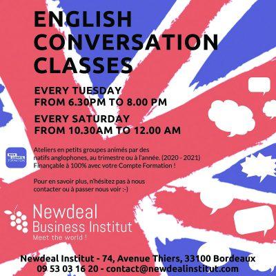 cours d'anglais du soir à bordeaux